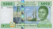 5.000 Francs (2002) Zentral-Afrika Staaten P.409A unc/kassenfrisch  20,00 EUR  +  6,50 EUR shipping