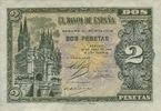 2 Pesetas 30.4.1938 Spanien - sehr selten -   96,00 EUR  +  6,50 EUR shipping