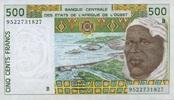 500 Francs (19)95 West-Afrikanische Staaten P.210 B.f unc/kassenfrisch  6,50 EUR  +  6,50 EUR shipping