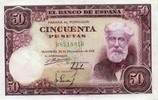 50 Pestas 31.12.1951 Spanien P.141a unc/kassenfrisch  170,00 EUR  +  6,50 EUR shipping