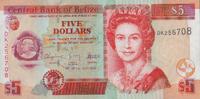 5 Dollars  Belize Pick 67d unc  7,50 EUR