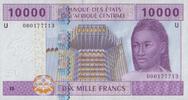 10.000 Francs 2002 Zentral-Afrika Staaten Pick 210 U unc/kassenfrisch  33,00 EUR