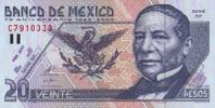 20 Pesos  Mexico Pick 111 unc/kassenfrisch  12,00 EUR  +  6,50 EUR shipping