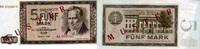 5 Mark 1964 Deutsche Noten Bank 1964 - Serie AA - unc/kassenfrisch  82,00 EUR