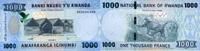 1.000 Francs 01.5.2015 Rwanda P.39/2015 unc/kassenfrisch  4,00 EUR