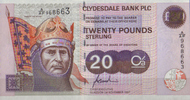 Scotland Clydesdale Bank PLC 20 Pounds  1997 unc  82,00 EUR