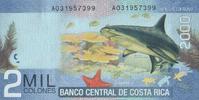 2.000 Colones  Costa-Rica Pick 275 unc/kassenfrisch  7,00 EUR  +  6,50 EUR shipping