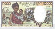10.000 Francs ND(1984) Djibouti Pick 39b unc  110,00 EUR