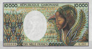 Gabon 10.000 Francs ND(1984) unc  115,00 EUR