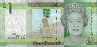 1 Pound 2010 Jersey Neue Serie Pick 32a unc/kassenfrisch  3,00 EUR  +  6,50 EUR shipping