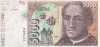 5.000 Pesetas  Spanien Pick 165 unc/kassenfrisch  90,00 EUR