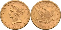 USA 10 Dollars 1894 ss-vz Liberty, Coronet Head 569,00 EUR  +  12,90 EUR shipping