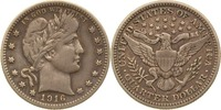1/4 Dollar 1916 D USA Quarter Dollar (Barber) vz  39,00 EUR  +  8,90 EUR shipping