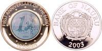 10 Dollars 2003 Nauru Kinegramm von D-Mark und Euro PP  49,00 EUR  +  8,90 EUR shipping