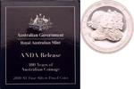 1 Dollar 2010 B Australien 100 Jahre Australische Münzprägung, ANDA Bri... 119,00 EUR  +  8,90 EUR shipping
