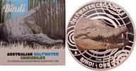 1 Dollar 2013 Australien Salzwasserkrokodil PP, Farbdruck  75,00 EUR  +  8,90 EUR shipping