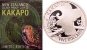 5 Dollars 2009 Neuseeland Eulenpapagei (Kakapo) PP  87,00 EUR  +  8,90 EUR shipping