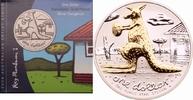 1 Dollar 2008 Australien Känguru mit Football st, vergoldet  89,00 EUR  +  8,90 EUR shipping