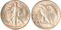 USA Half Dollar USA, Half Dollar, 1944 D (Denver), Walking Liberty, st