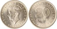Malysia 20 Cents 1939 st Malaysia, 20 Cents, George VI., 1939, st EA 45,00 EUR +  10,00 EUR shipping