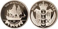 Niue 10 Dollars 1992 PP Niue, 10 Dollars, H.M.S. Resolution, 1992, PP 42,00 EUR +  10,00 EUR shipping