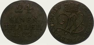 1/24 Taler 1802 Wallmoden-Gimborn Johann L...