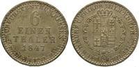 1/6 Taler 1847 Hessen-Kassel Wilhelm II. 1821-1847. Vorzüglich - Stempe... 425,00 EUR  +  5,00 EUR shipping