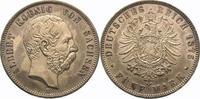 5 Mark 1875  E Sachsen Albert 1873-1902. Kratzer auf der VS, vorzüglich... 950,00 EUR  Excl. 5,00 EUR Verzending