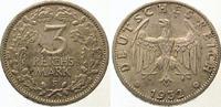 3 Mark 1932  F Weimarer Republik  Selten. Vorzüglich +  675,00 EUR  Excl. 5,00 EUR Verzending