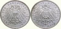 3 Mark 1909  A Lübeck  Fast Stempelglanz  250,00 EUR