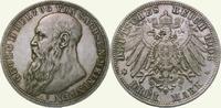 3 Mark 1908  D Sachsen-Meiningen Georg II. 1866-1914. Polierte Platte. ... 225,00 EUR  Excl. 5,00 EUR Verzending