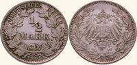 1/2 Mark 1905  J Kleinmünzen  Fast Stempelglanz  20,00 EUR