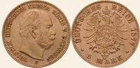 5 Mark Gold 1877  C Preußen Wilhelm I. 1861-1888. Vorzüglich - Stempelg... 450,00 EUR  Excl. 5,00 EUR Verzending