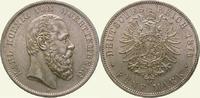 5 Mark 1876  F Württemberg Karl 1864-1891. Selten in dieser Erhaltung. ... 1275,00 EUR  Excl. 5,00 EUR Verzending