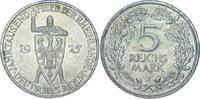 5 Mark 1925  J Weimarer Republik  Selten. Vorzüglich - Stempelglanz  475,00 EUR  Excl. 5,00 EUR Verzending