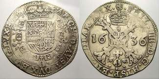 Patagon 1636 Luxemburg Philipp IV. 1621-16...