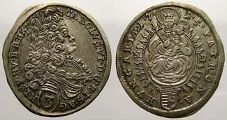 3 Kreuzer 1715  N Haus Habsburg Karl VI. 1...