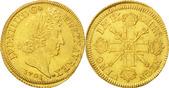 2 Louis D or 1701 A Frankreich Double loui...