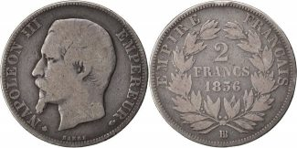 Semi Moderns (1805-1899) 2 Francs 1856 Str...