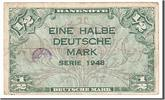 Germany 1/2 Deutsche Mark Foreign Banknoten Germany, 1/2 Deutsche Mark type 1948, Deutschland