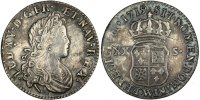 French Royal XX Sols Royal French coins Frankreich Königreichr Louis XV, XX Sols de Navarre