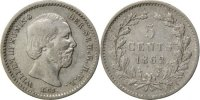 Netherlands 5 Cents Foreign Coins Münzen Pays-Bas, Willem III, 5 Cents 1862