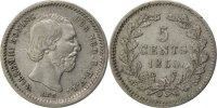 Netherlands 5 Cents Foreign Coins Münzen Pays-Bas, Willem III, 5 Cents 1850