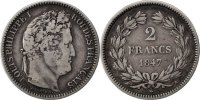 Semi Moderns (1805-1899) 2 Francs 1847 Paris s French Moderns Frankreich... 120,00 EUR +  10,00 EUR shipping