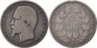 Semi Moderns (1805-1899) 2 Francs French Moderns Frankreich Second Empire, 2 Francs Napoléon III tête nue, 1856 BB