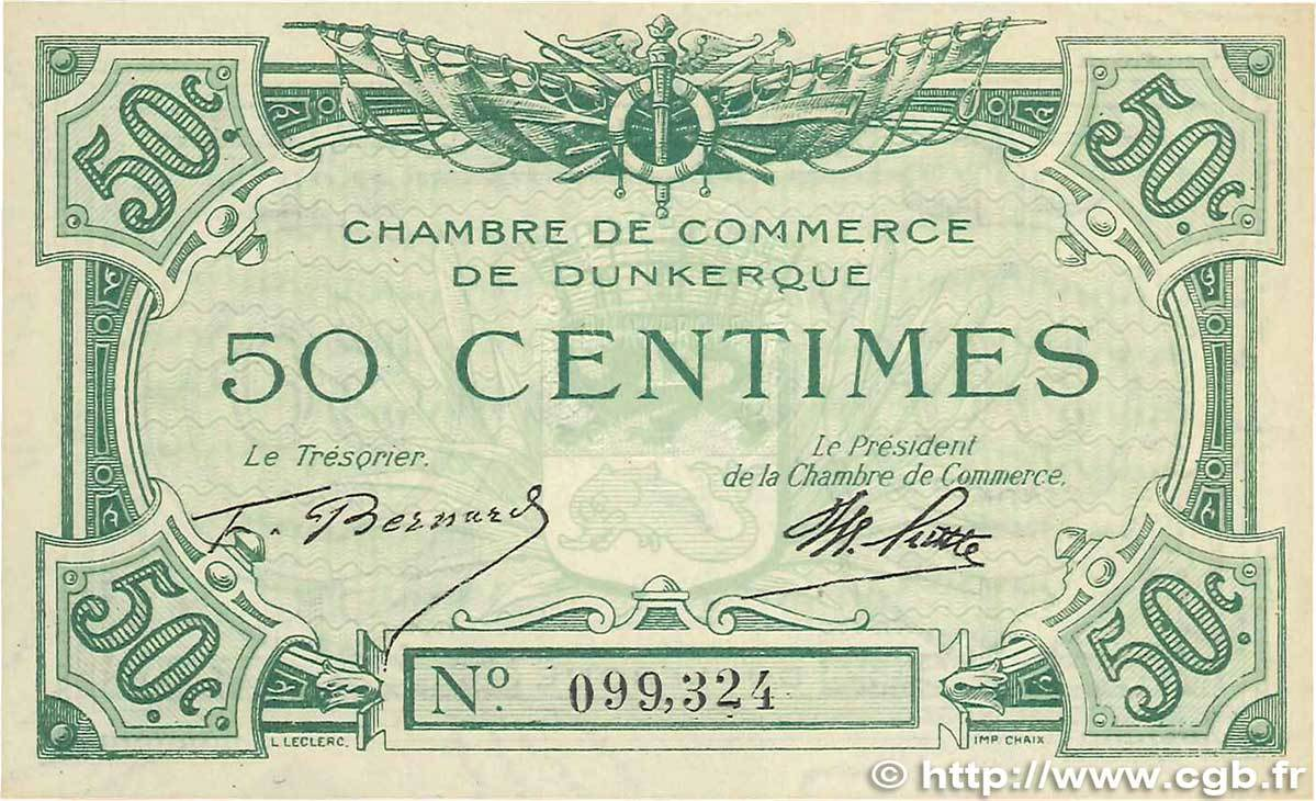 50 centimes 1918 france regionalism and various france for Chambre de commerce dunkerque