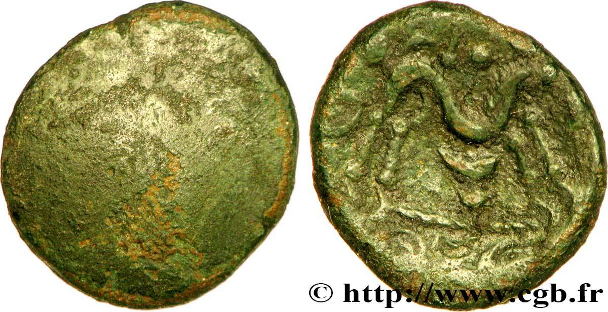 Statère d'or unifaz de Bronce de los AMBIANI (Zona de Amiens), 60-50 a.C. [WM n° 7973] Bga_241879