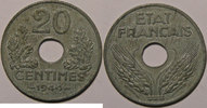 1944 20 Centimes Monnaie française, Etat Français, 20 Centimes 1944 zi... 35,00 EUR  +  7,00 EUR shipping