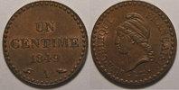 1849 A 1 Centime France, Dupré, 1 Centime 1849 A TTB/SUP, Gad: 84 vz  15,00 EUR  +  7,00 EUR shipping