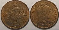 1910 5 Centimes France, Dupuis, 5 Centimes 1910 SUP, Gad: 165 vz  60,00 EUR  +  7,00 EUR shipping